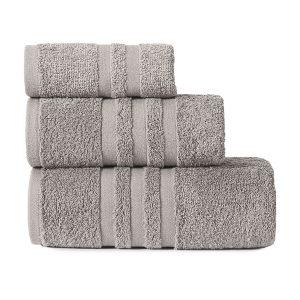 Gruby ręcznik frotte ciemny szary kąpielowy 30x50 bawełniany mały