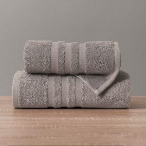 Gruby ręcznik frotte ciemny szary kąpielowy 50x90 bawełniany nowoczesny