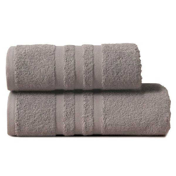 Gruby ręcznik frotte ciemny szary kąpielowy 50×90 bawełniany nowoczesny