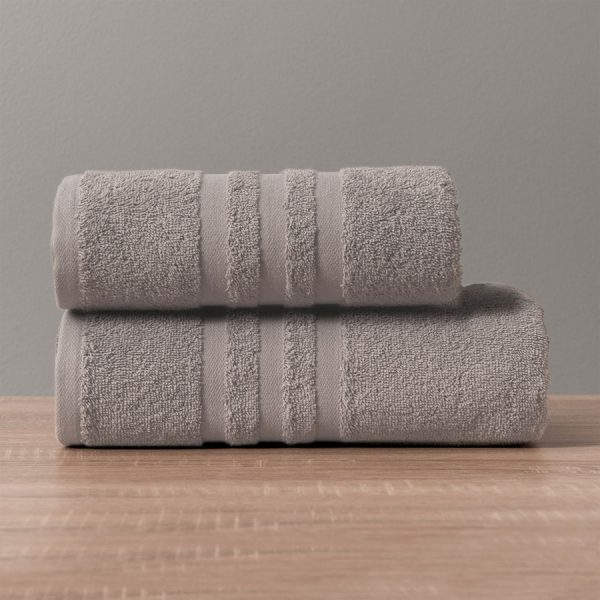 Gruby ręcznik frotte szary ciemny bawełniany kąpielowy 70x140 Modern
