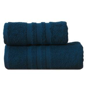 Gruby ręcznik frotte granatowy bawełniany kąpielowy 70x140 Modern
