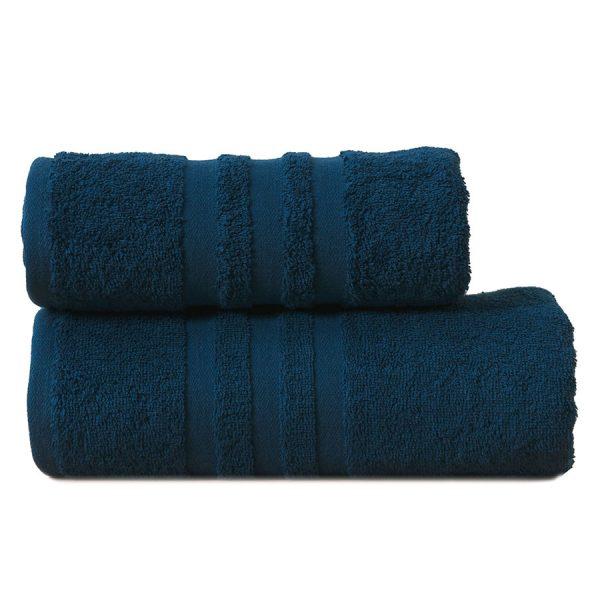 Gruby ręcznik frotte granatowy bawełniany kąpielowy 70×140 Modern.jpg