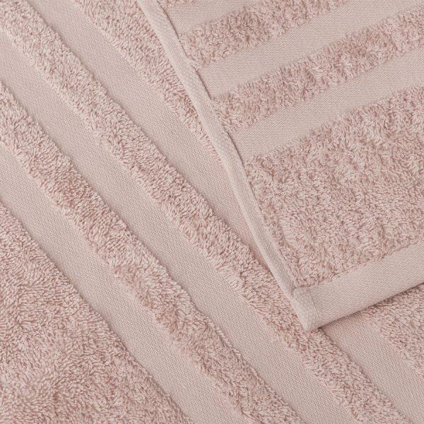Gruby ręcznik frotte pudrowy róż kąpielowy 50x90 bawełniany nowoczesny