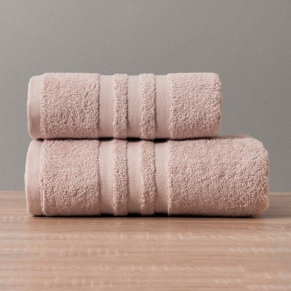 Gruby ręcznik frotte pudrowy róż bawełniany kąpielowy 70x140 Modern