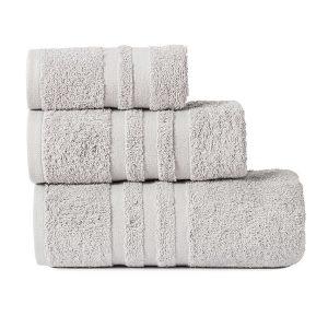Gruby ręcznik frotte jasny szary kąpielowy 30x50 bawełniany mały