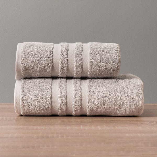 Gruby ręcznik frotte jasny szary kąpielowy 50x90 bawełniany nowoczesny