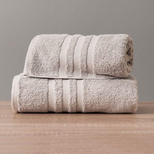 Gruby ręcznik frotte szary jasny bawełniany kąpielowy 70x140 Modern