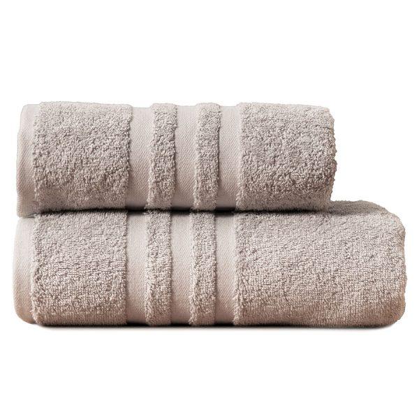 Gruby ręcznik frotte szary jasny bawełniany kąpielowy 70×140 Modern.jpg