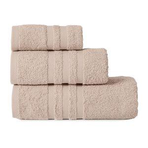 Gruby ręcznik frotte beżowy kąpielowy 30x50 bawełniany mały
