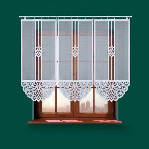 Panel biały żakardowy 60x140 firanka krótka panelowa ZURIEL