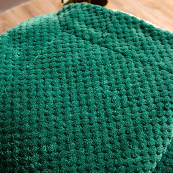Koc z mikrofibry z barankiem zielony biały podwójny 150x200