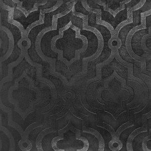 Poszewka ozdobna grafitowa welwetowa marokańska koniczyna 40x40