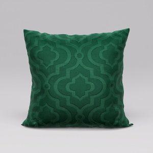 Poszewka butelkowa zieleń 40x40 marokańska koniczyna ozdobna welwetowa