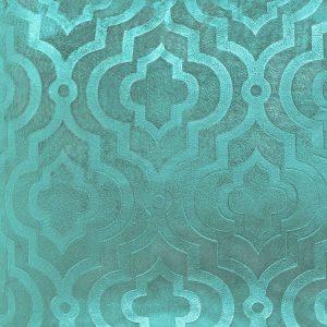 Poszewka ozdobna miętowa marokańska koniczyna welwetowa 40x40