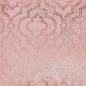 Poszewka ozdobna pudrowy róż welwetowa marokańska koniczyna 40x40