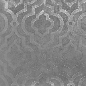 Poszewka ozdobna szara welwetowa marokańska koniczyna 40x40