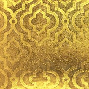 Poszewka ozdobna żółta 40x40 marokańska koniczyna welwetowa