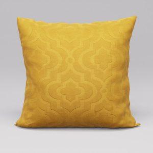 Poszewka ozdobna żółta 45x45 marokańska koniczyna welwetowa