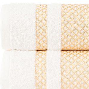 Ręcznik biały ze złotą bordiurą kąpielowy 70x140 Lionel